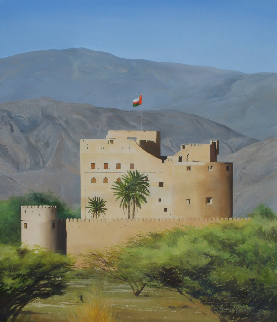Fort Jabrin 2007  oil on linen 890 x 740  Diwan of the Royal Court, The Sultanate of Oman