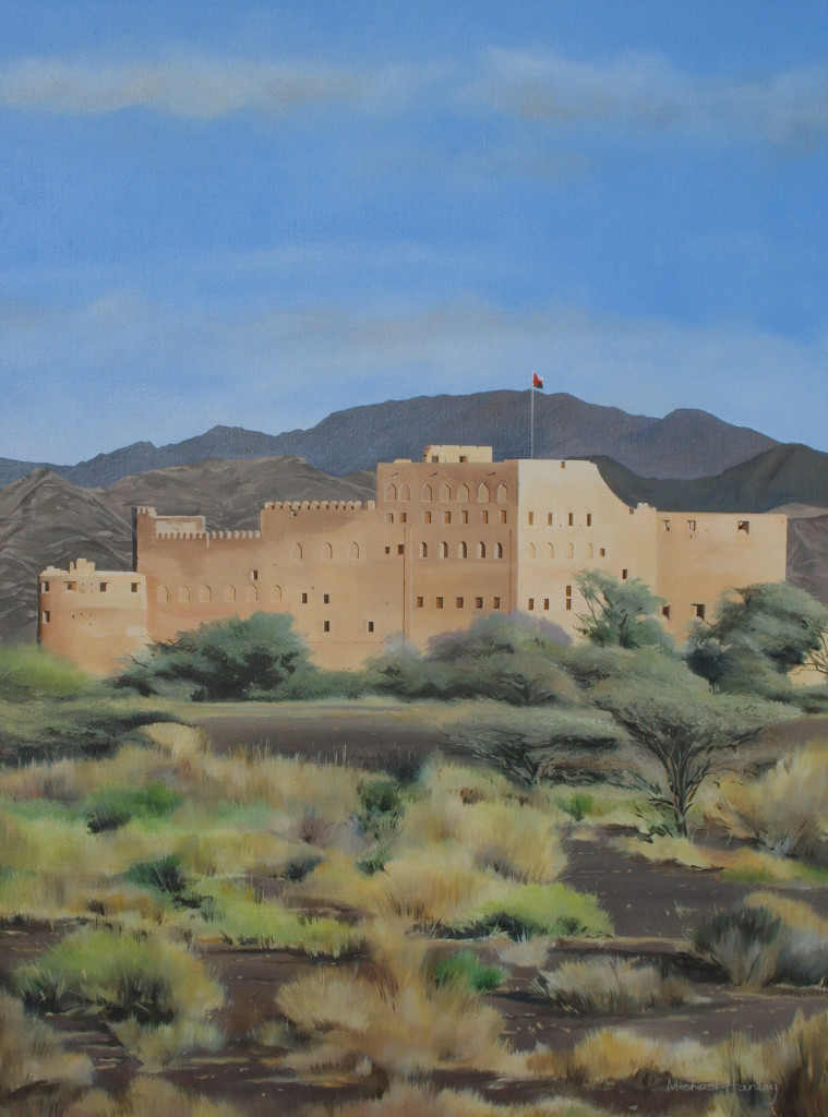 Fort Jabrin 1 2008  oil on linen  890 x 740  Diwan of the Royal Court, The Sultanate of Oman
