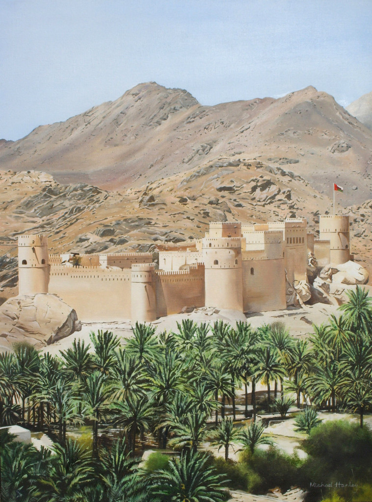 Nahkl Fort  from NE 2009  oil on canvas  845 x 540  Diwan of the Royal Court, The Sultanate of Oman