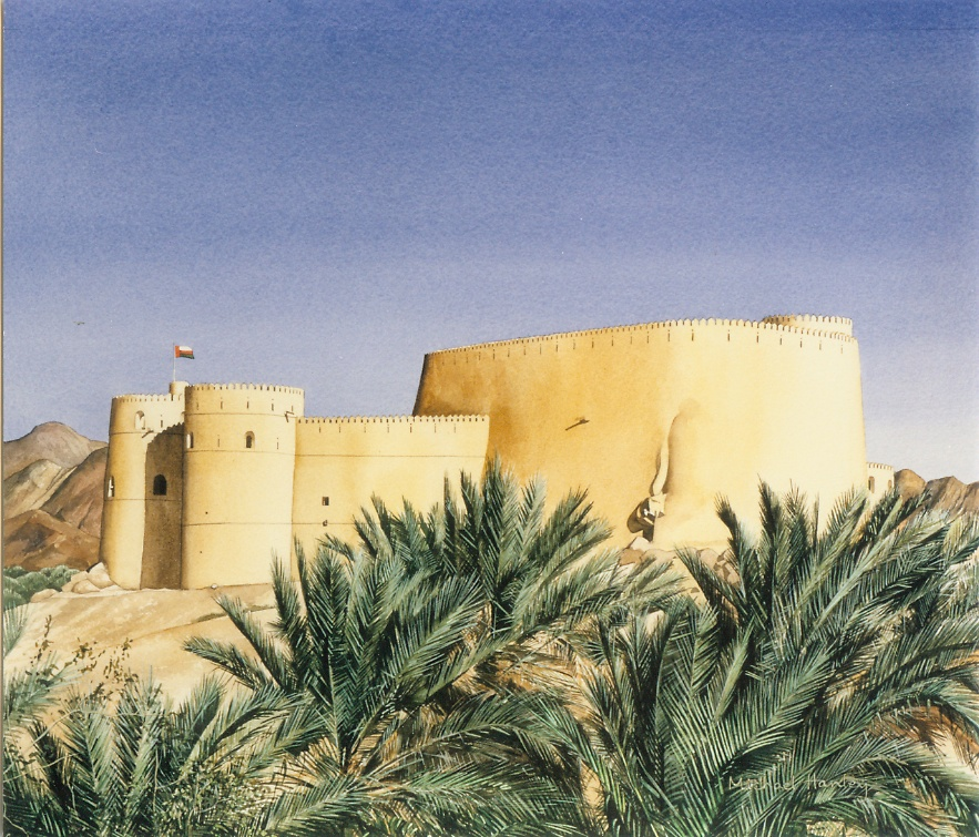 Rustaq Fort from west, Oman 1998