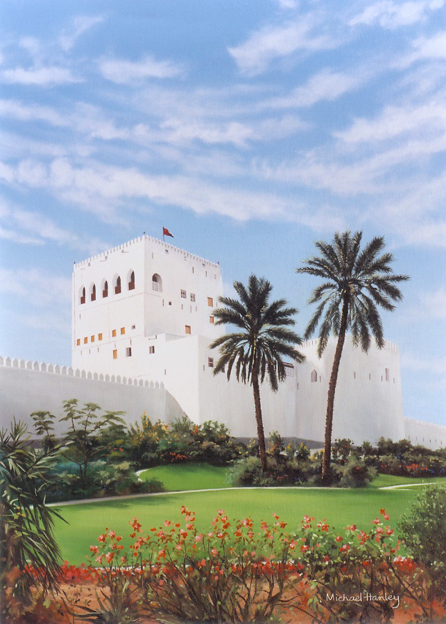 Sohar Fort 2 , Oman 1991  oil on canvas 890 x 640  Diwan of the Royal Court, The Sultanate of Oman