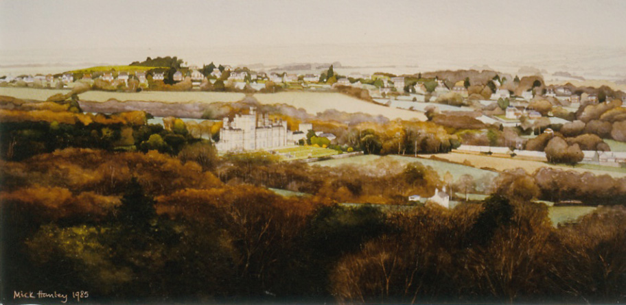 Fairlight Hall, East Sussex 1985   watercolour   300 x 600