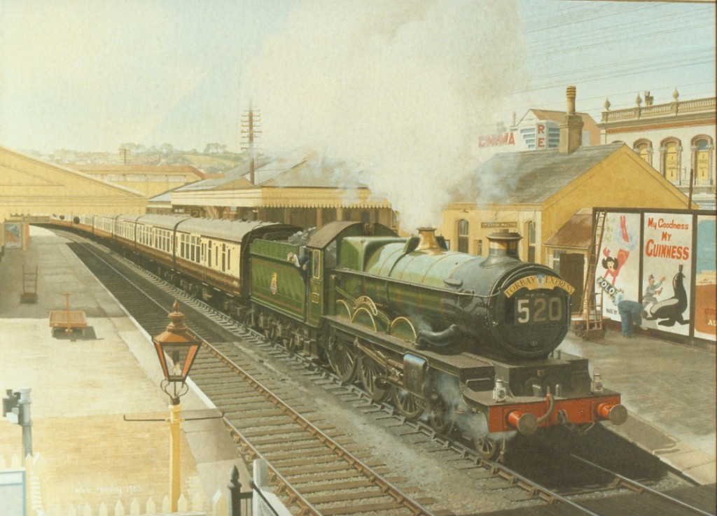 Torbay Express, Paignton 1957  oil on canvas 1987   1000 x 1200  private collection