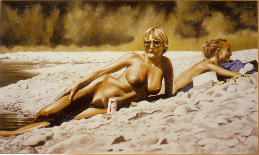 California Girls I 1984  oil on canvas  300 x 500   private collection