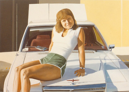 Chrissie 1980   oil on canvas    600 x 900   private collection