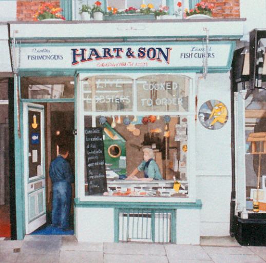 Hart and Son Hastings Sussex 1991 watercolour 300 x 300 private collection