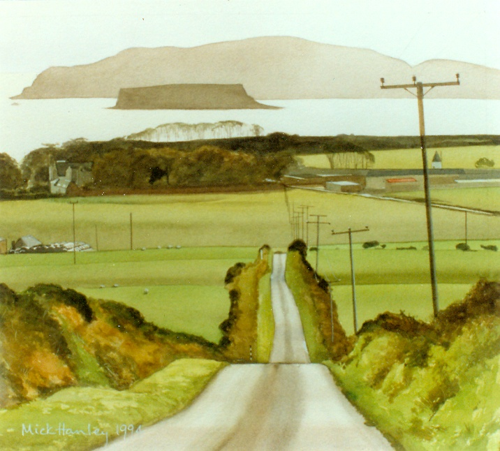 Sanda Island, Kintyre 1994   watercolour  450 x 450